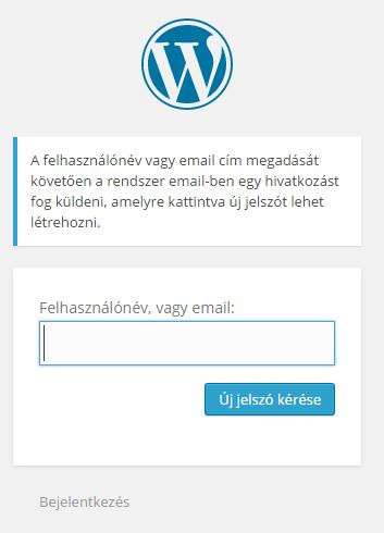 wordpress-oktatas-elfelejtett-jelszo
